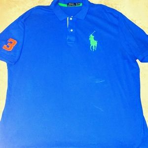 Polo Ralph Lauren 3XB Men's Big Pony Mesh Polo